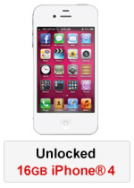 iPhone® 4 16GB Unlocked - White (Refurbished by EB Games) (preowned)