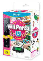 Wii Party U - Black Remote (preowned)