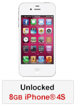 iPhone® 4S 8GB Unlocked - White (Refurbished by EB Games)