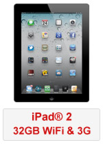 iPad® 2 32GB WiFi & 3G - Black (Refurbished by EB Games)