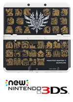 New Nintendo 3DS Cover Plates - Monster Hunter 4 Ultimate (Black)