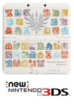 New Nintendo 3DS Cover Plates - Monster Hunter 4 Ultimate (White)
