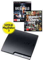 320GB PlayStation 3 + Battlefield 3 + Grand Theft Auto IV (preowned)